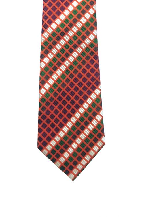 Turnbull & Asser Orange Geometric Tie