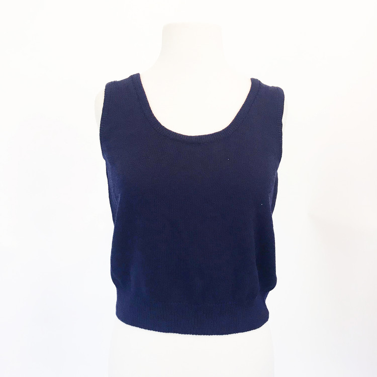 St. John Navy Blue Santana Knit Top