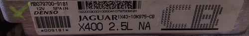 Jaguar, 1X43-10K975-CB, X400 2.5L NA, MB079700-9181