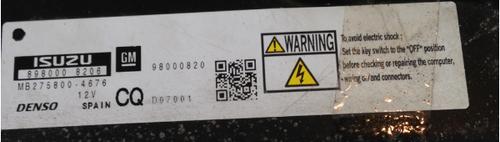 Vauxhall Corsa, Astra/Zafira 1.7D, Engine ECU DENSO, MB275800-4676, 98000820, CQ