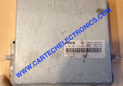 Plug & Play Rover 220 Diesel Engine ECU BOSCH 0 281 001 418 0281001418 MSB100490