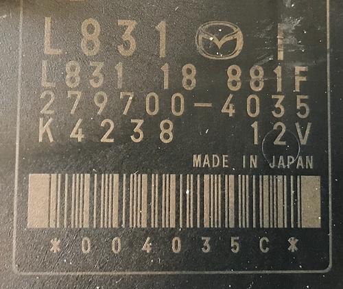 Mazda, 279700-4035, L831 18 881F