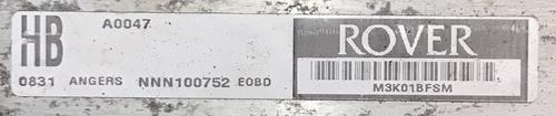 Rover 25/45 1.4L, MG ZR 1.4L, NNN100752, HB