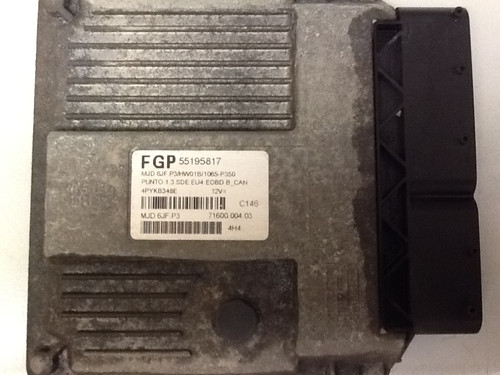 Plug & Play Fiat Engine ECU MJD 6JF.P3 71600.004.03 55195817 FGP