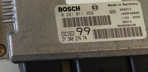 Plug & Play Bosch Engine ECU, HDI,  0281011359 0 281 011 359 ZY34027474 EDC15C2 99