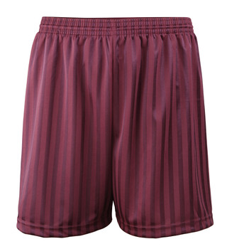 Shadow Stripe PE Shorts - Maroon 18-28""