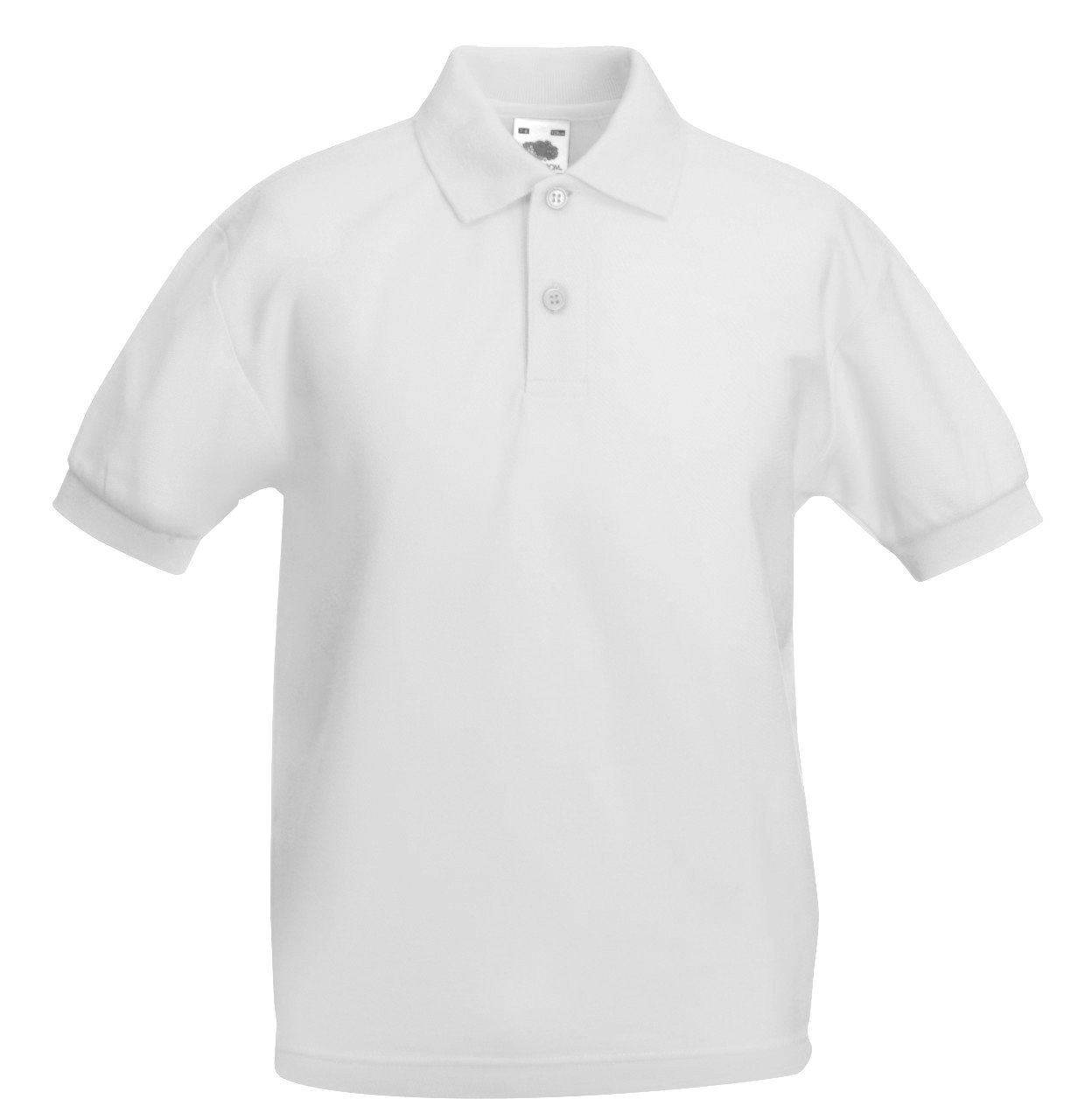School Polo Shirts White