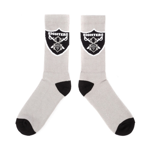 Rebel8 Eighters Socks Grey/Black
