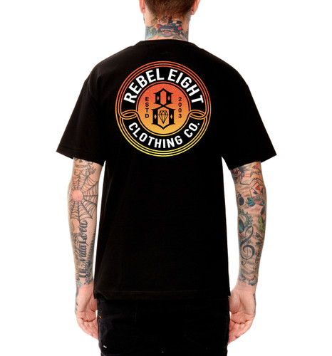 Rebel8 Sun Burnt T-Shirt - Back