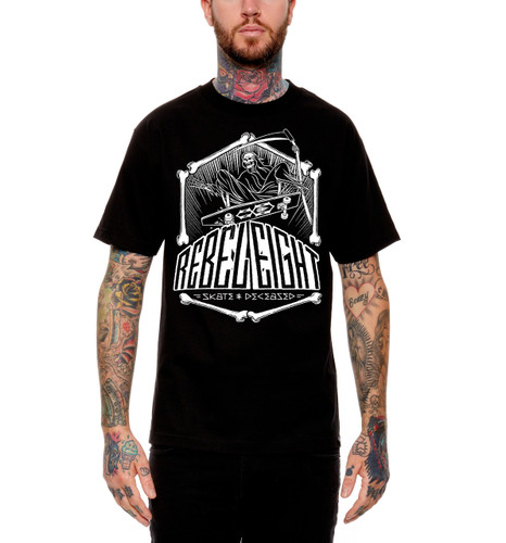 Rebel8 Skate and Deceased T-Shirt - Front