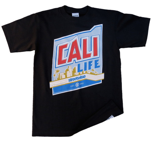 Streetwise Cali Life T-Shirt in black