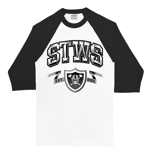 Streetwise Silver & Black Raglan