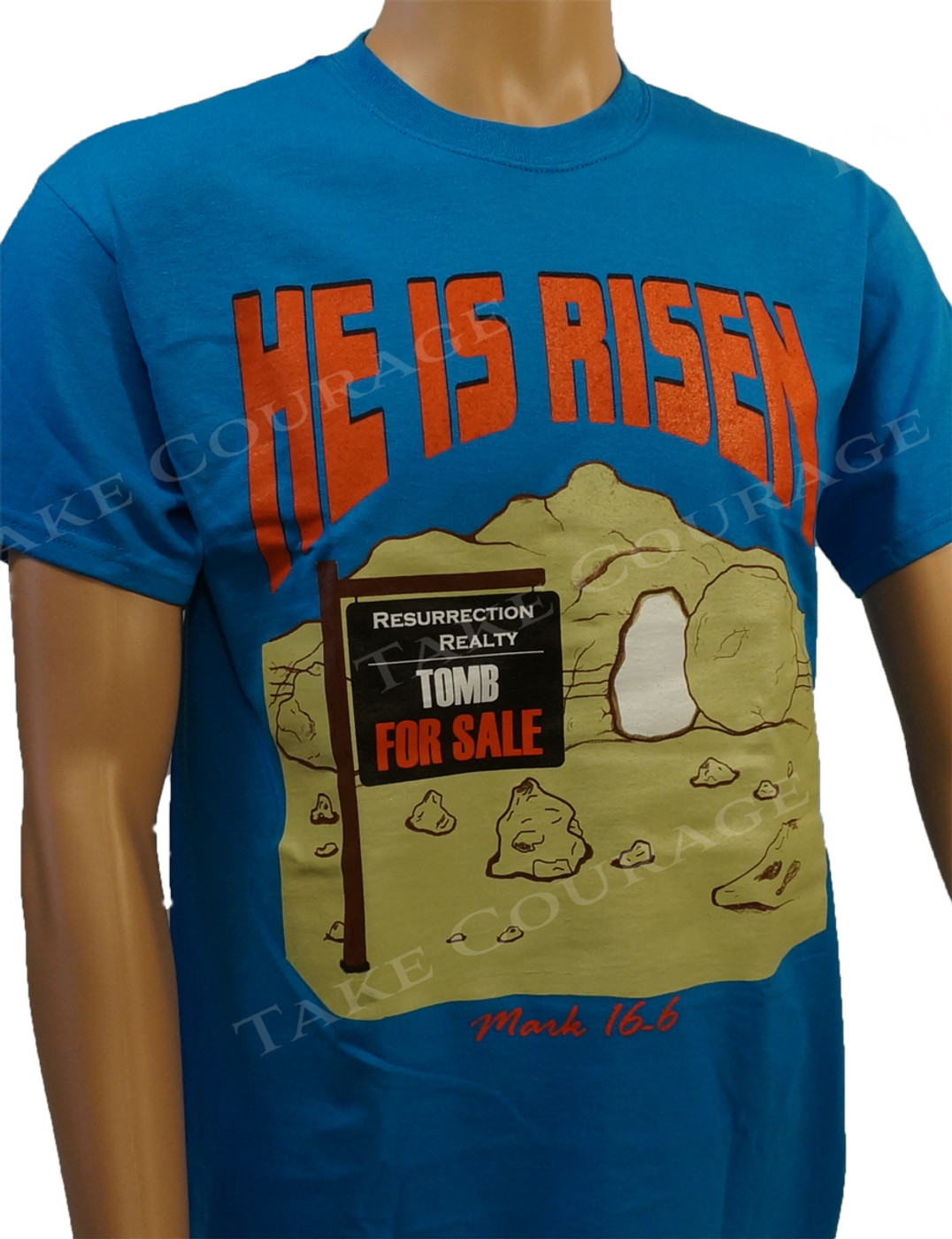 HE is Risen - Christian Shirt - Blue