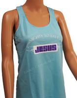 Jesus Muscle - Christian Shirt  - Aqua