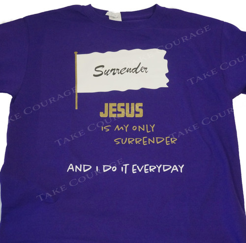 Surrender - Christian Shirt - Purple&Gold