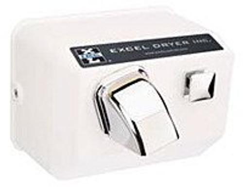 Excel Dryer 76 W Push Button Hand Dryer White