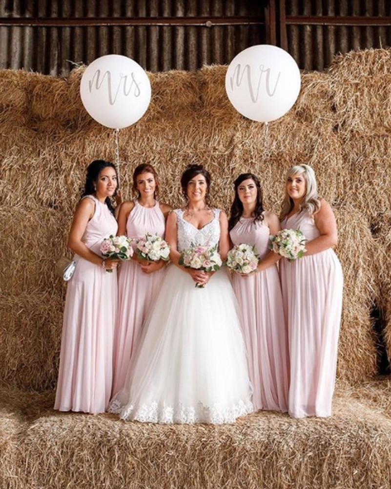 After Six Bridesmaid Dress Style 6760 in dusty pink