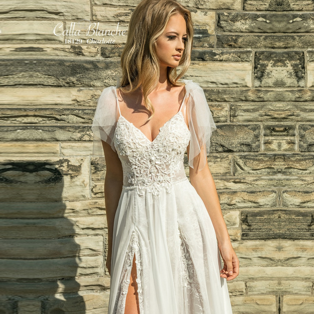 Charlotte 18129 Calla Blanche L'amour Lace Wedding Dresses Sydney Online Australia