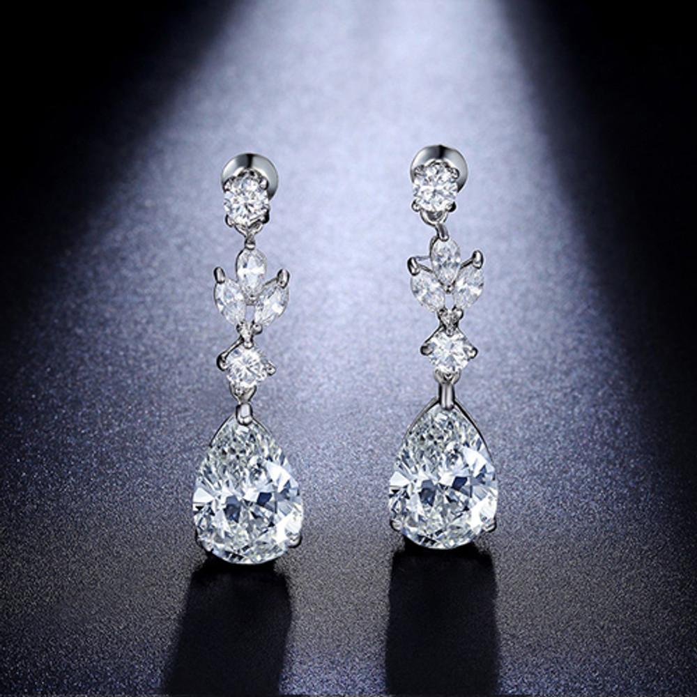 Pear Drop Pendant Earrings
