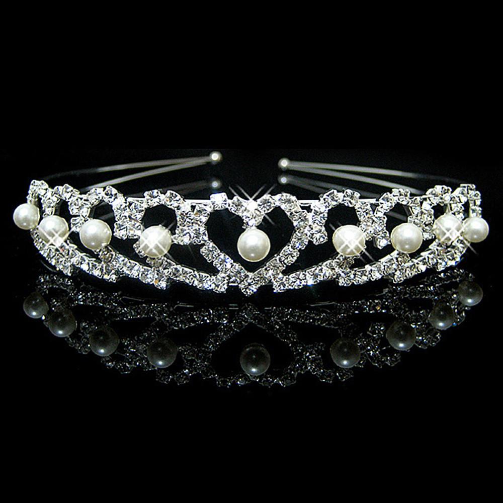 Heart Tiara Bridal Headpeice