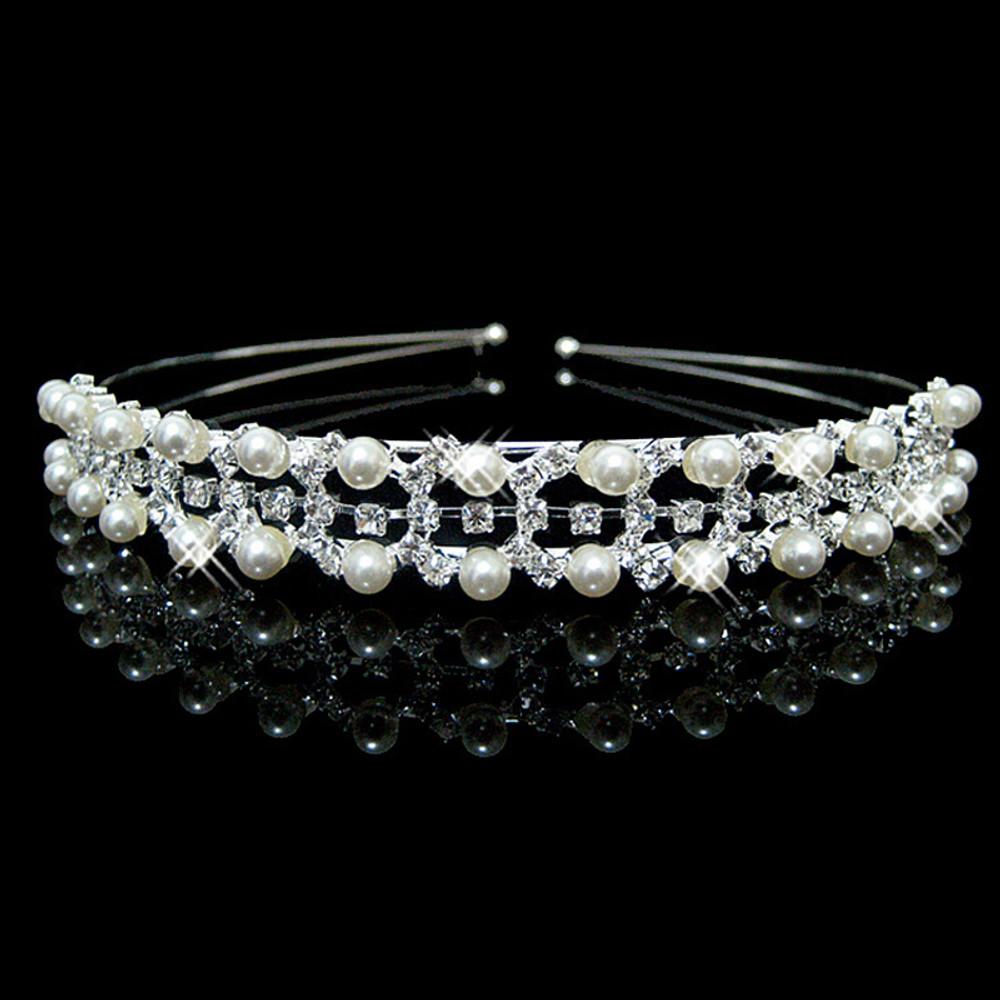 Pearl Geometric Tiara Bridal Headpeice