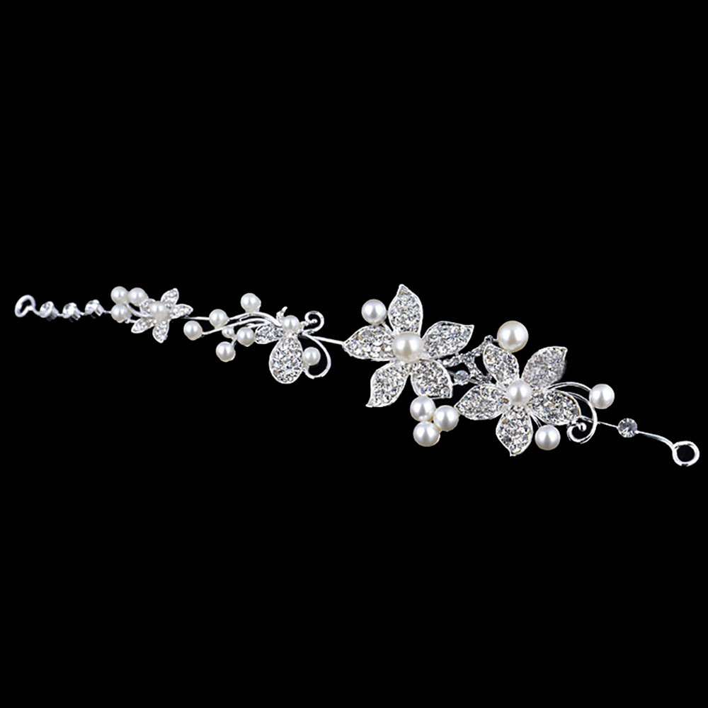 White and Silver Tiara Bridal Headpeice