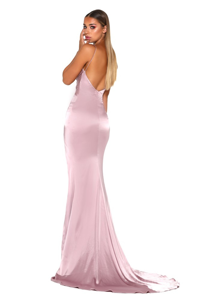 Formal Dress Mother Of The Bride Long Sleeve Dress Hugo Gown Mauve