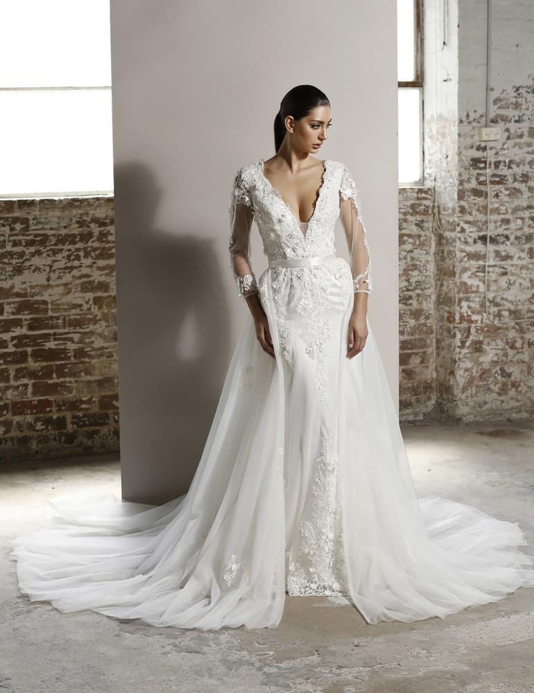 Madison Wedding Overlay Skirt W109 by Jadore Bridal