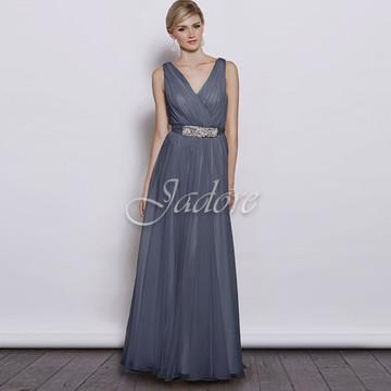 Aria Dress In Steel Blue