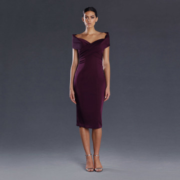 Jadore Audrina Off-Shoulder Cocktail Dress JX075