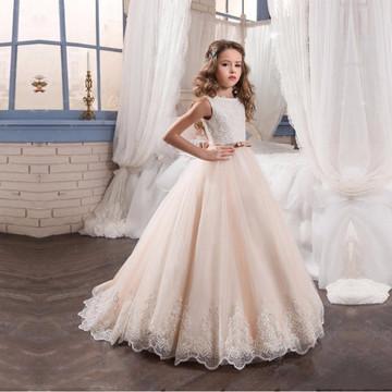 Naomi Champagne Flower Girl Dress