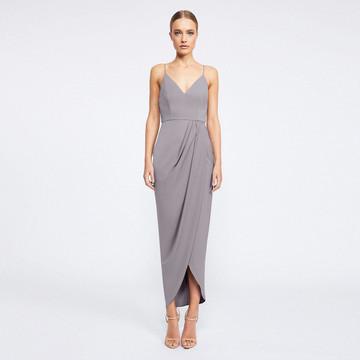 Shona Joy Core Cocktail Dress - Grey