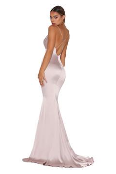 Dana Satin Dress Mauve by Portia & Scarlett