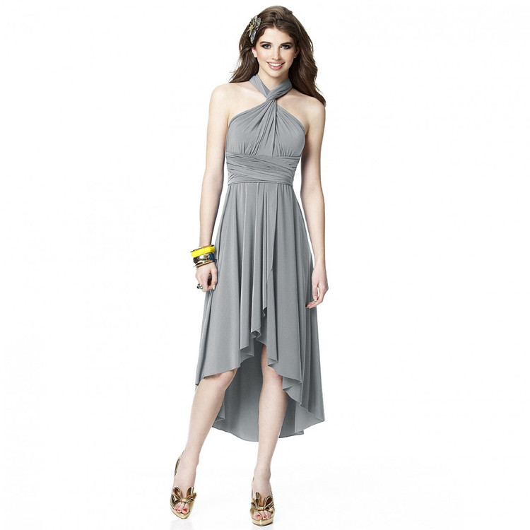 Dessy convertible dress with Faux Wrap Skirt  in 25 colors