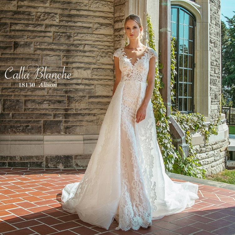 Alison by Calla Blanche Bridal (dress & overlay skirt)