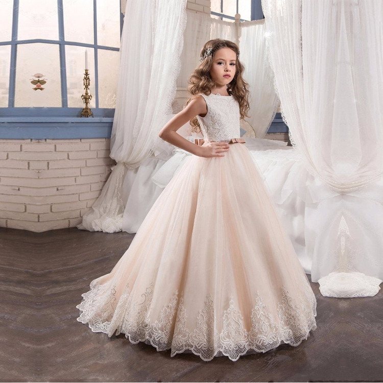 Naomi Champagne Flower Girl Dress
