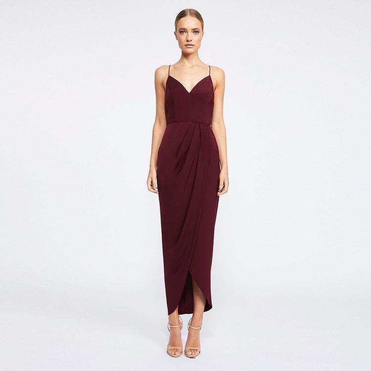 Shona Joy | Shona Joy Core Cocktail Dress - Burgundy