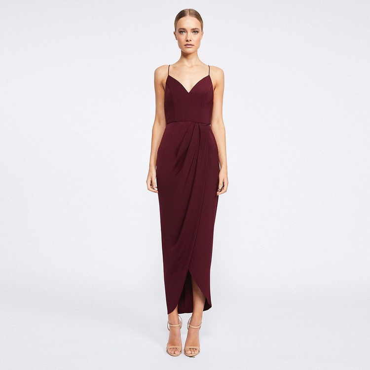 Shona Joy Core Cocktail Dress - Burgundy