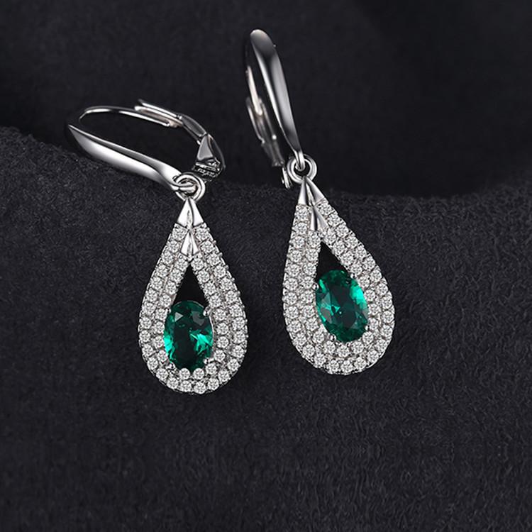 Oval Drop Pendant earrings
