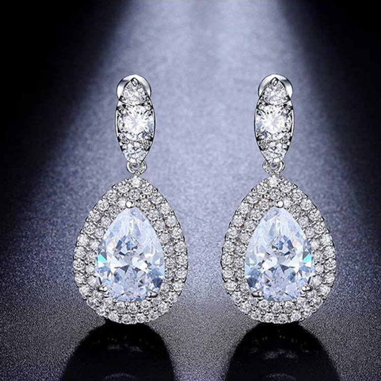Pear Pendant Earrings