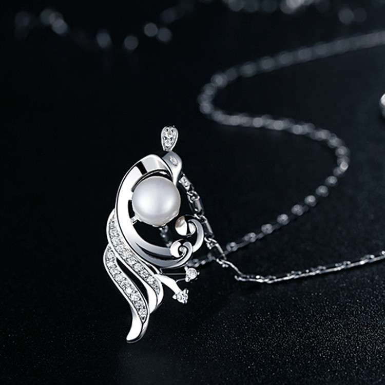 Peacock Pearl Pendant Necklace