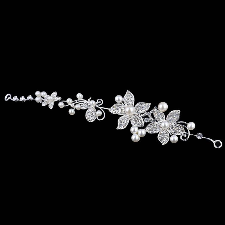 White and Silver Tiara Bridal Headpeice