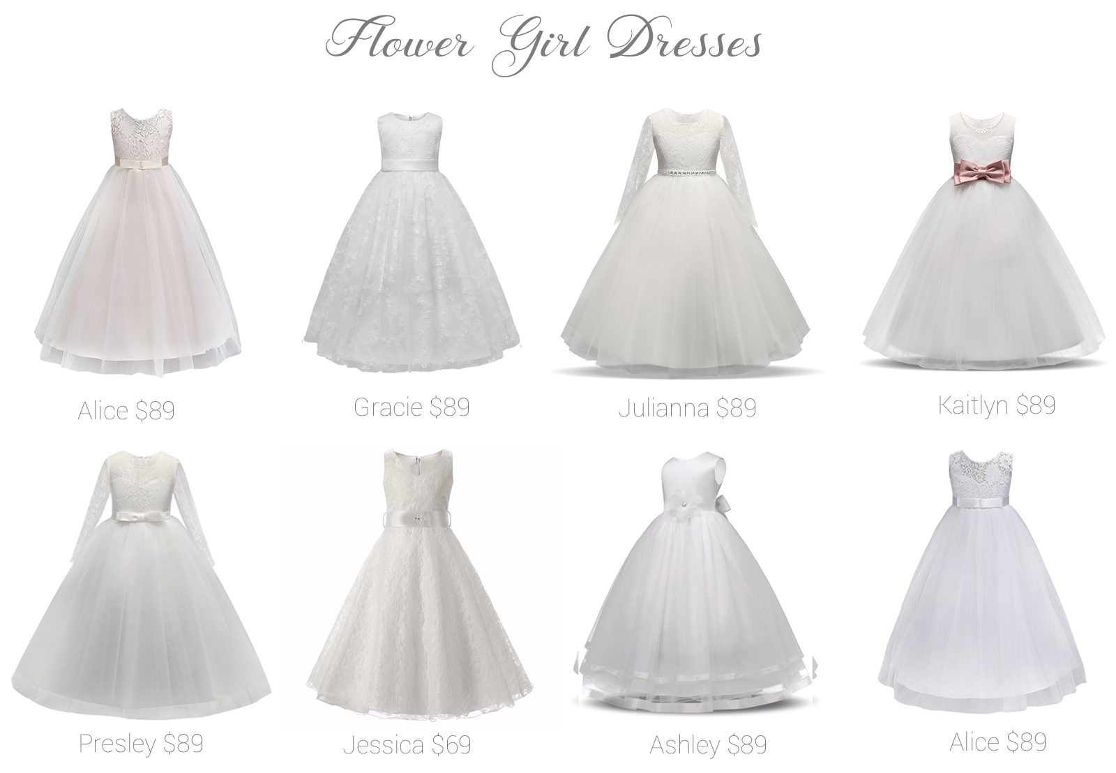 Flower Girl Dresses Shop Online And In Store Fashionably Yours