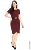 Pleated Tulip Dress - Wine