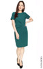 Side Ruched Dress - Teal Green