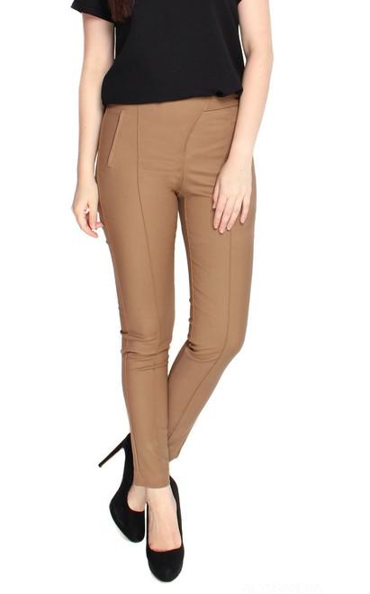Cigarette Pants - Camel