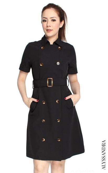 Classic Trench Dress - Black