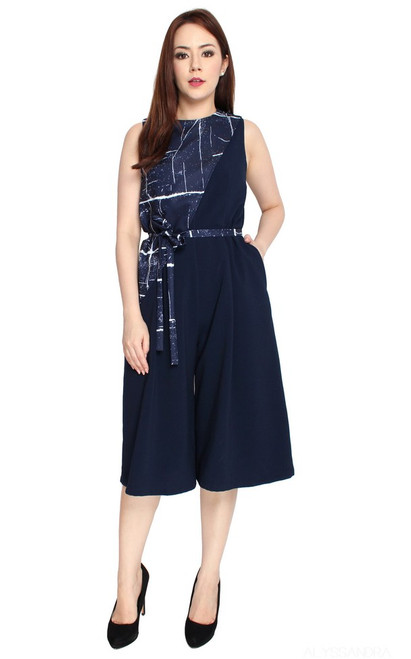 Overlay Culottes Jumpsuit