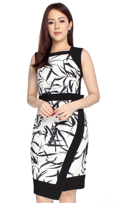 Bamboo Print Work Dress