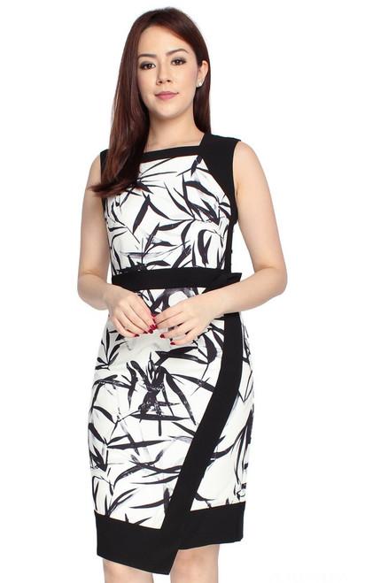 Bamboo Print Work Dress